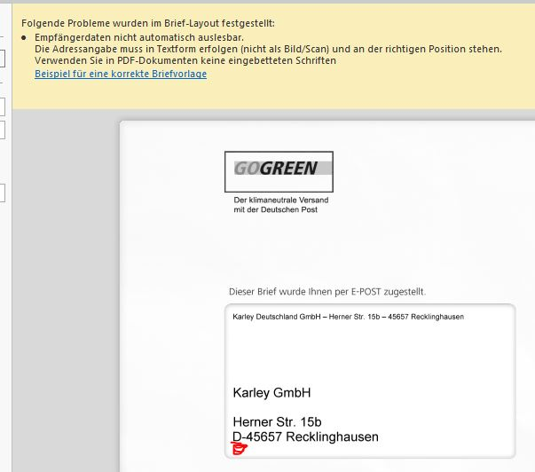 Karley Wissensdatenbank Tobit David E Post Hybrid Mail Meldet